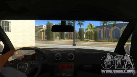 Audi S3 para visión interna GTA San Andreas