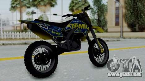 GTA 5 Atomic Sanchez para GTA San Andreas left