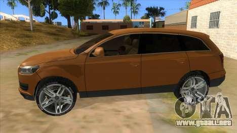 Audi Q7 para GTA San Andreas left