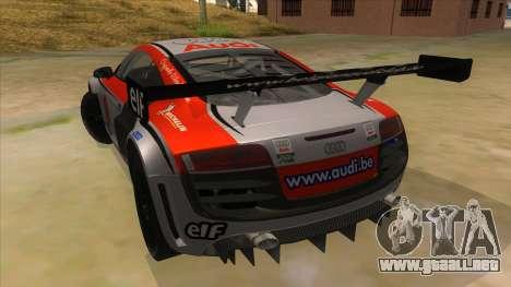 Audi R8 para GTA San Andreas vista posterior izquierda