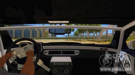 2012 Chevrolet Camaro ZL1 Liberty Walk para visión interna GTA San Andreas