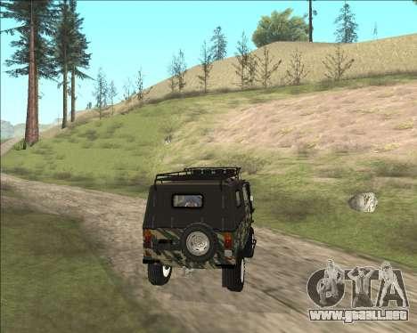 969М LuAZ Fuera de la Carretera para GTA San Andreas vista posterior izquierda