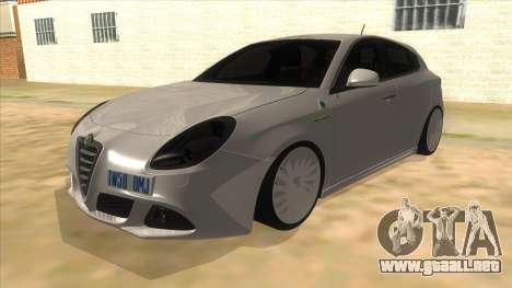 2011 Alfa Romeo Giulietta para GTA San Andreas