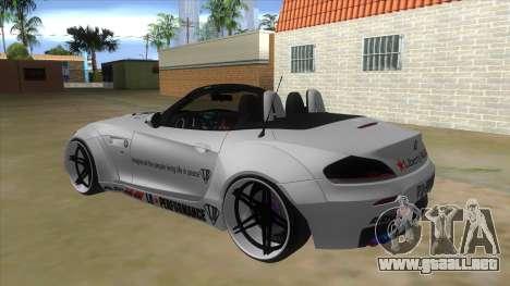 BMW Z4 Liberty Walk Performance Livery para GTA San Andreas vista posterior izquierda