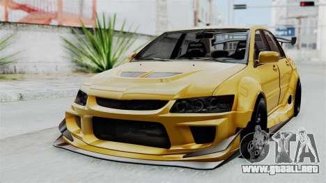 Mitsubishi Lancer Evolution IX MR Edition para GTA San Andreas