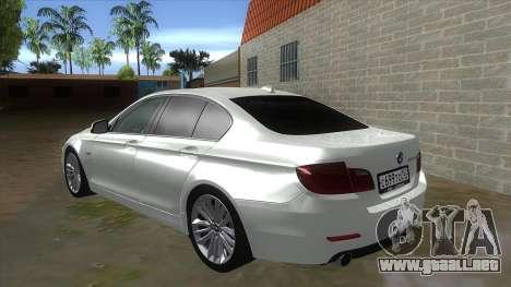 BMW 530XD F10 para GTA San Andreas vista posterior izquierda