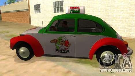 Volkswagen Beetle Pizza para GTA San Andreas left