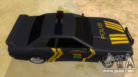 Elegy NR32 Police Edition Grey Patrol para visión interna GTA San Andreas