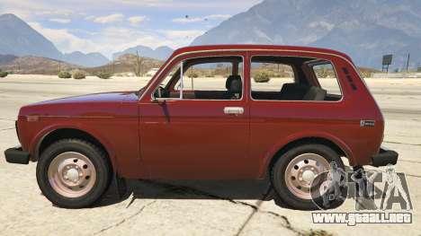 GTA 5 VAZ-2121 Lada Niva vista lateral izquierda