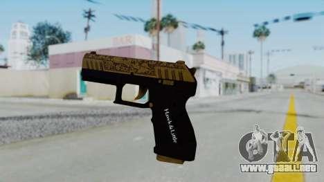 GTA 5 Online Lowriders DLC Combat Pistol para GTA San Andreas segunda pantalla