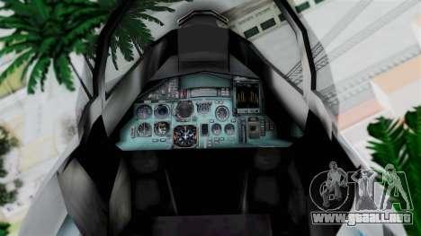 SU-37 Indian Air Force para la visión correcta GTA San Andreas