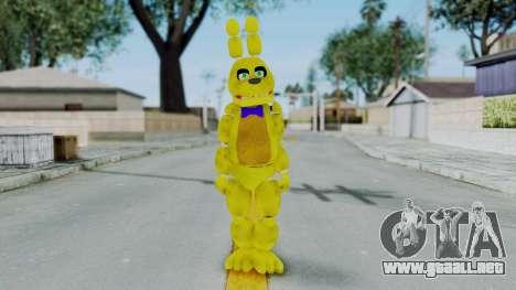 FNAF Spring Bonnie para GTA San Andreas segunda pantalla