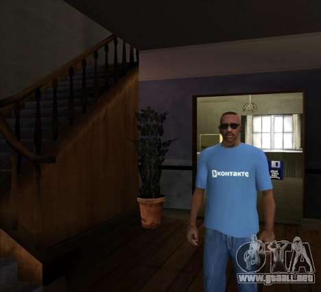 T-Shirt De VKontakte para GTA San Andreas