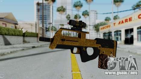 GTA 5 Online Lowriders DLC Assault SMG para GTA San Andreas segunda pantalla