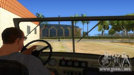 UAZ-469 Green para visión interna GTA San Andreas