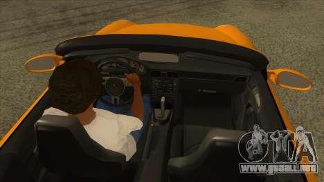 Porsche 911 para visión interna GTA San Andreas