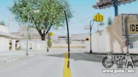 Samurai Sword v1 para GTA San Andreas segunda pantalla