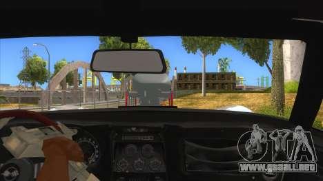 1968 Chevrolet Corvette Stingray Monster Truck para visión interna GTA San Andreas