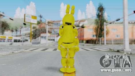 FNAF Spring Bonnie para GTA San Andreas tercera pantalla