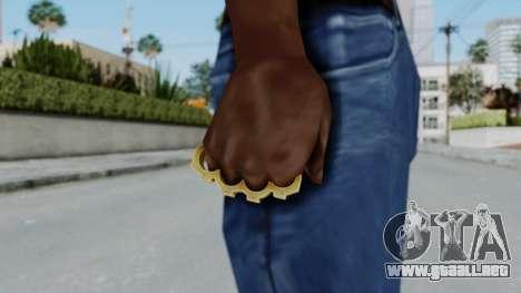 The Vagos Knuckle Dusters from Ill GG Part 2 para GTA San Andreas tercera pantalla
