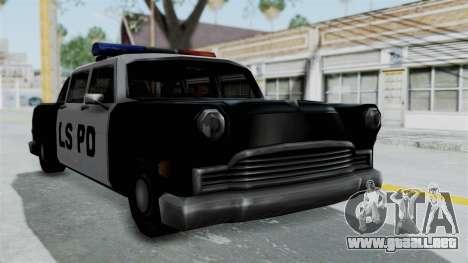 Police Cabbie para GTA San Andreas vista posterior izquierda