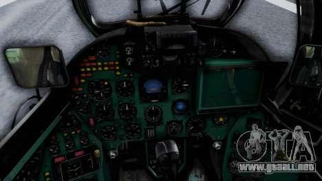 Mi-24V Afghan Air Force 112 para GTA San Andreas vista hacia atrás
