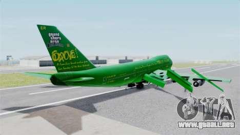 Boeing 747-100 Grove Street para GTA San Andreas left