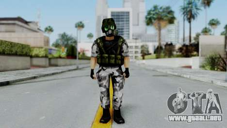 Shephard from Half-Life Opposing Force para GTA San Andreas segunda pantalla