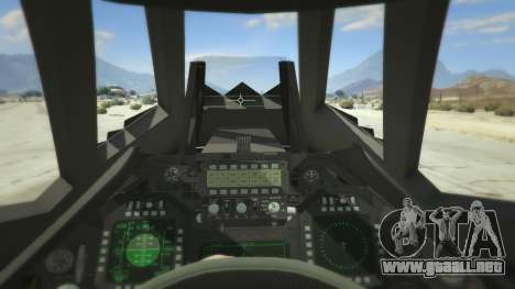 GTA 5 Lockheed F-117 Nighthawk Black 2.0 cuarto captura de pantalla