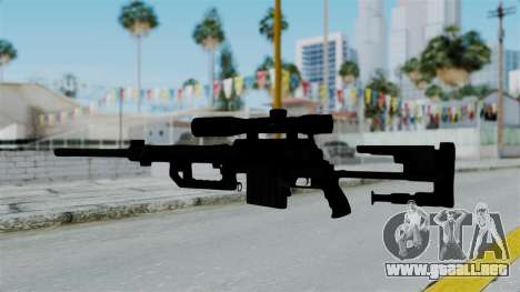 M2000 CheyTac Intervention without Stands para GTA San Andreas tercera pantalla