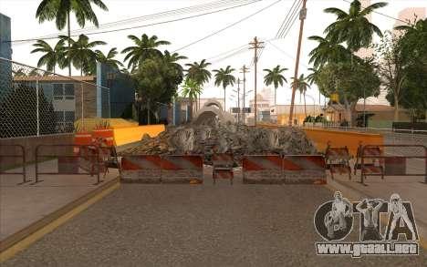 El trabajo de reparación de la Calle Grove para GTA San Andreas novena de pantalla