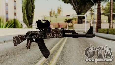 AK-47 F.C. Camo para GTA San Andreas