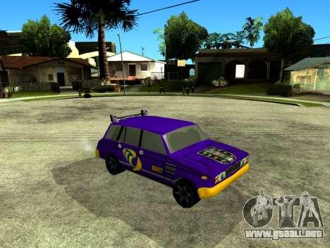 VAZ 2104 WRC para visión interna GTA San Andreas
