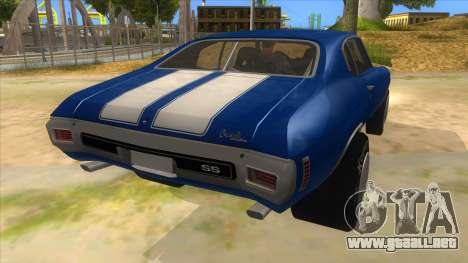 1970 Chevrolet Chevelle SS Drag para la visión correcta GTA San Andreas