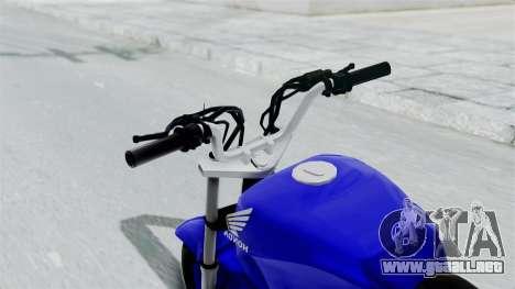 Honda CG Titan 2014 Stunt para GTA San Andreas vista hacia atrás