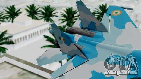 SU-37 Indian Air Force para GTA San Andreas vista posterior izquierda