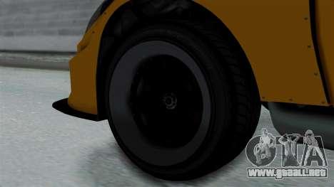 GTA 5 Karin Sultan RS Drift Big Spoiler PJ para GTA San Andreas vista posterior izquierda