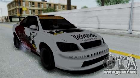 GTA 5 Karin Sultan RS Drift Big Spoiler PJ para la vista superior GTA San Andreas