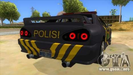 Elegy NR32 Police Edition Grey Patrol para la visión correcta GTA San Andreas