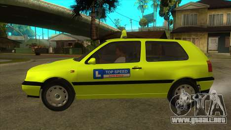 VW Golf Mk3 Top Speed Auto Skola para GTA San Andreas left
