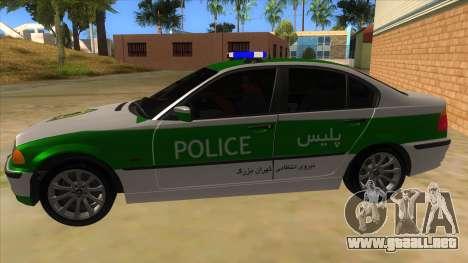 BMW Iranian Police para GTA San Andreas left
