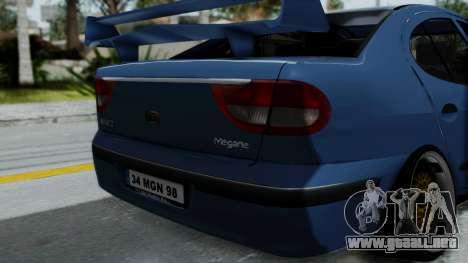 Renault Megane Stance para GTA San Andreas vista hacia atrás