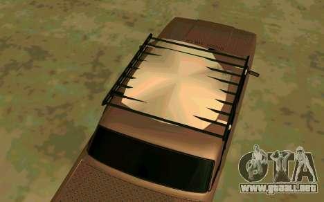 VAZ 2107 Invierno para GTA San Andreas vista posterior izquierda