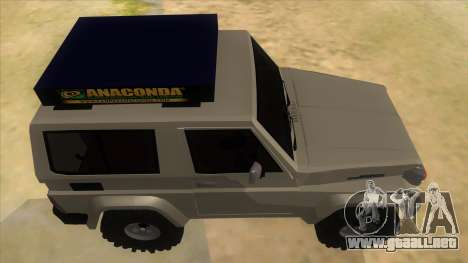 Toyota Machito 4X4 para visión interna GTA San Andreas