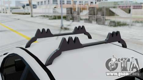 Hyundai Accent Essential Garage para GTA San Andreas vista hacia atrás