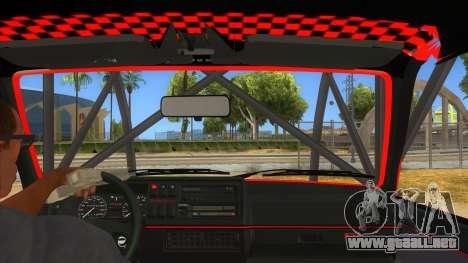 Volkswagen Golf MK2 RollGolf para visión interna GTA San Andreas