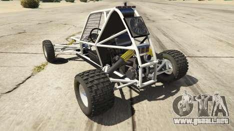 GTA 5 Kart Cross vista lateral izquierda trasera