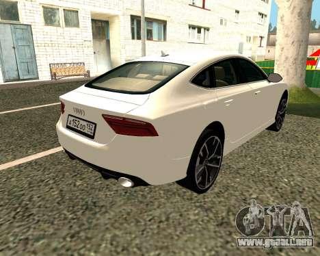Audi RS7 Quattro para la visión correcta GTA San Andreas