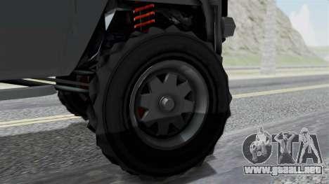 GTA 5 Karin Rebel 4x4 IVF para GTA San Andreas vista posterior izquierda