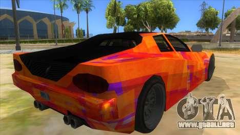 GTA 3 Cheetah ZTR para GTA San Andreas vista hacia atrás